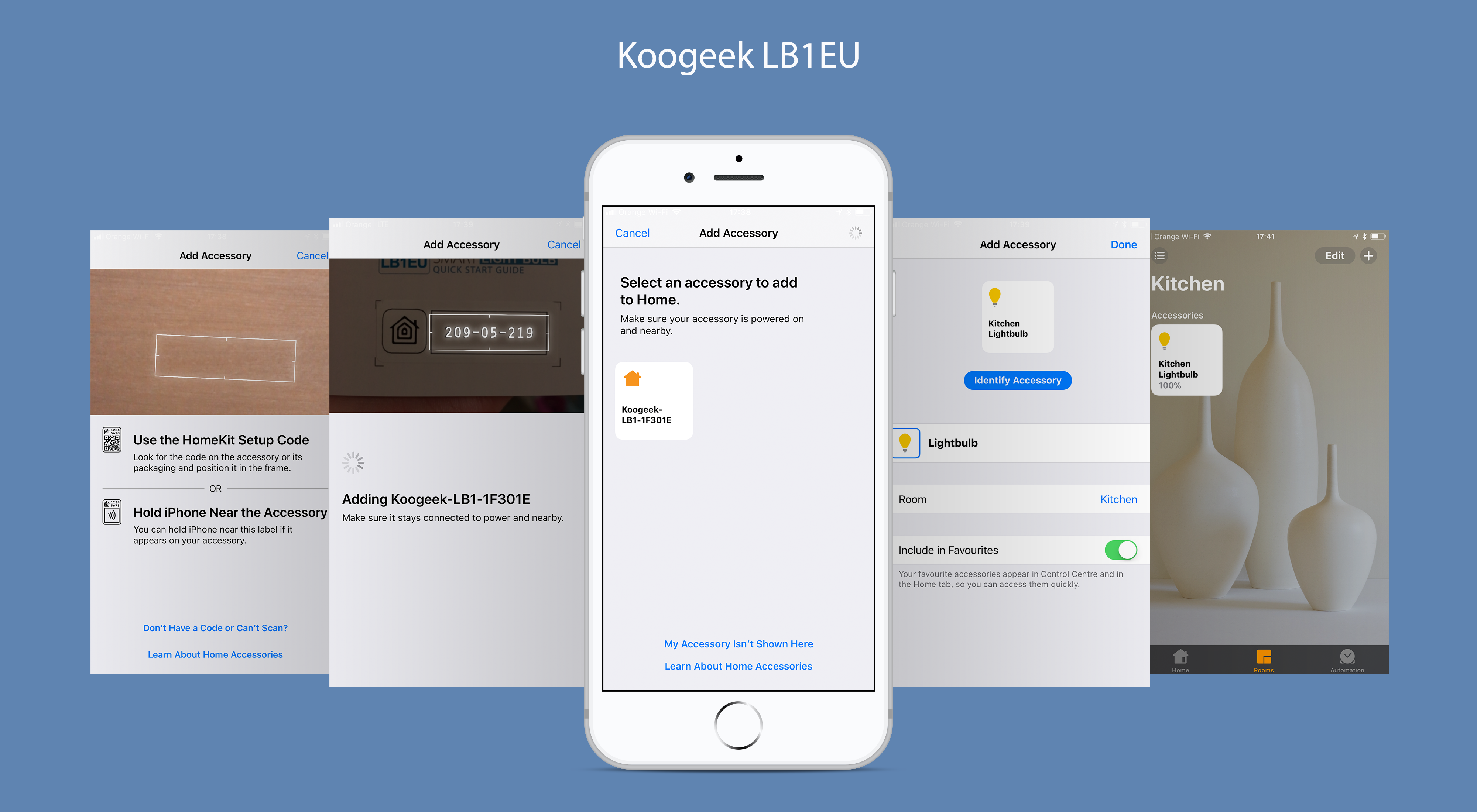 Adding Koogeek LB1EU to HomeKit on an iPhone 8 Plus